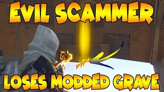 Dumb Scammer Loses Modded Grave Digger! (Scammer Gets Scammed) Fortnite Save The World