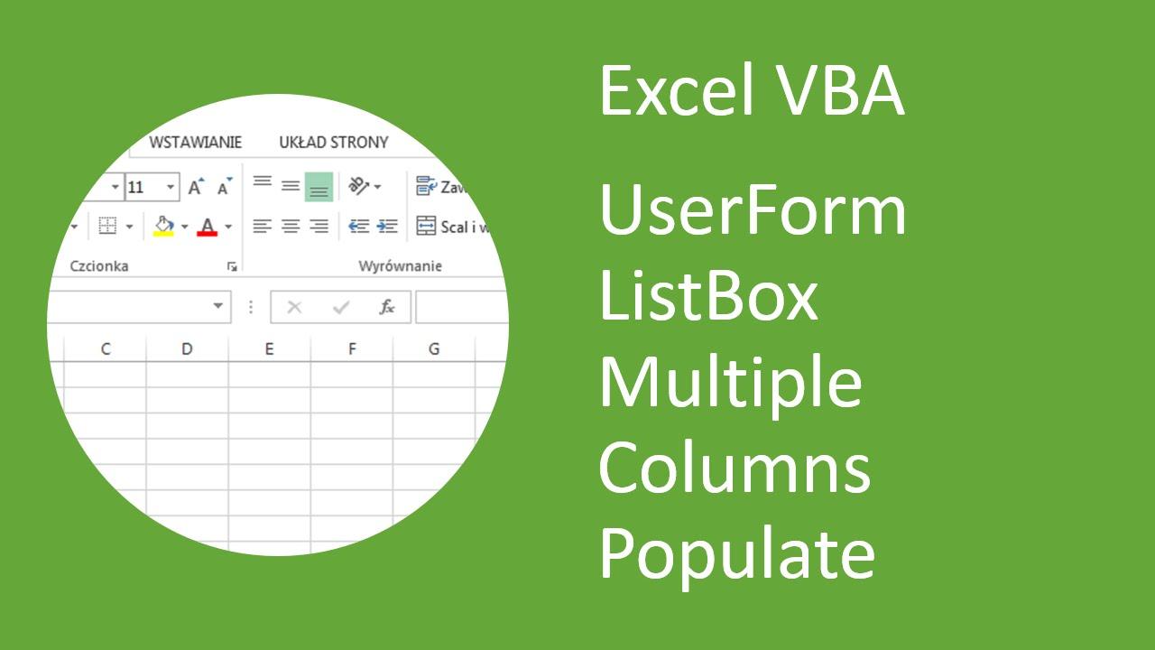 Excel Vba Listbox Color Row - excel vba listview column ...