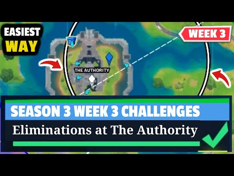 Eliminations At The Authority - Fortnite WEEK 3 Challenges - Season 3 Chapter 2 Fortnite