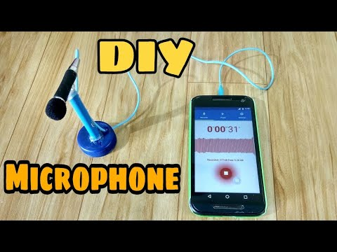 How to make Mini Microphone with stand at home-DIY Microphone