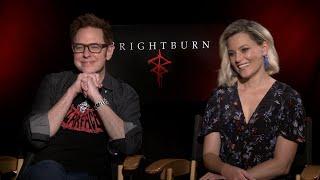 James Gunn and Elizabeth Banks   Brightburn Interview (Exclusive)