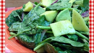 Avocado, Mango & Spinach Salad Recipe ~ Noreen's Kitchen