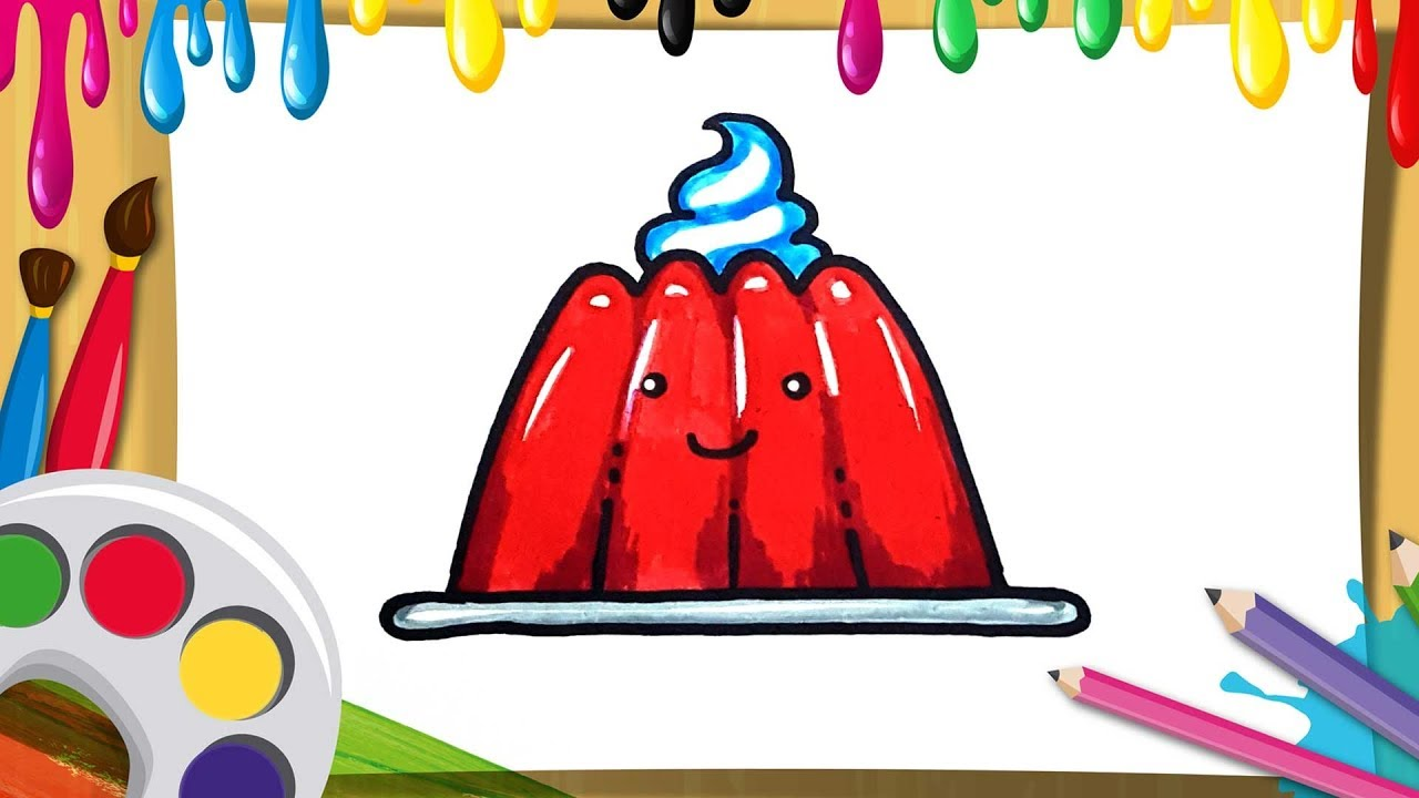 how to draw soft jelly for kids | coloring pages easy and ...