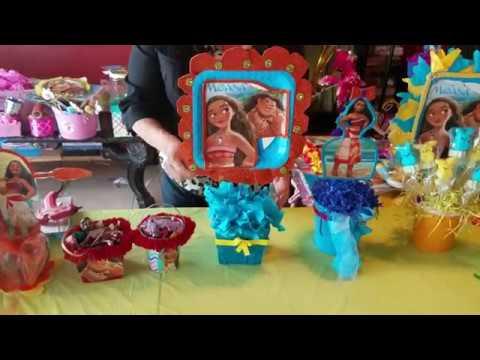 Centro de mesa estilo princesa moana youtube - Mesas con estilo ...