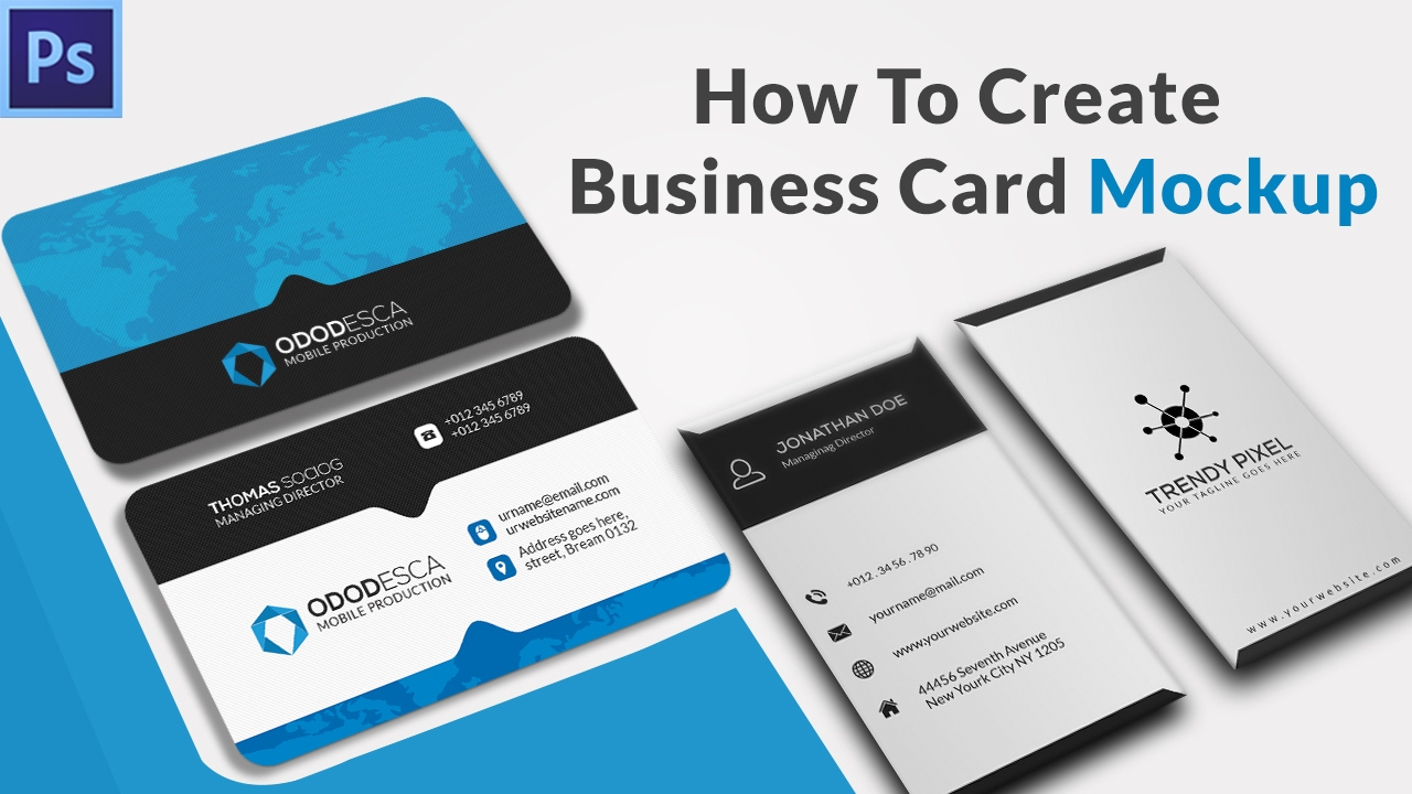 How to Create a Business Card Mockup in Photoshop Using Smart