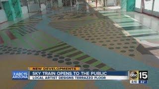 Artists help design floor PHX Sky Train