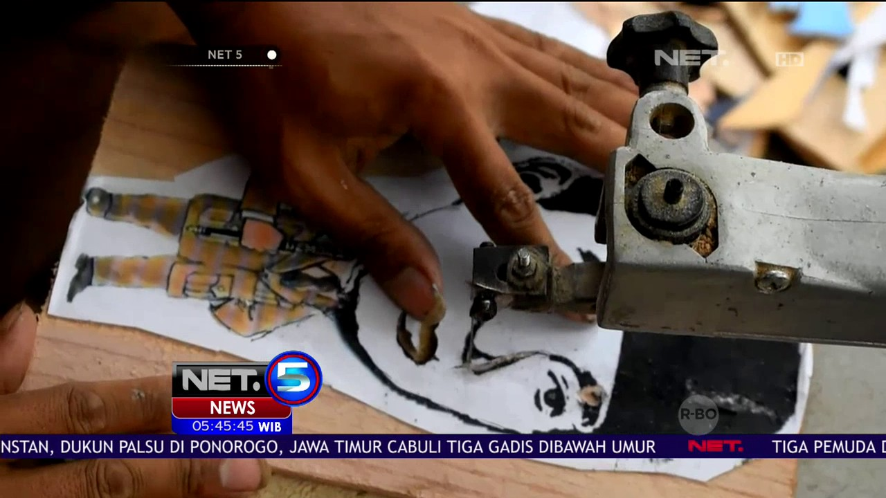 Inovasi Siluet Karikatur Wajah Dari Kayu NET5 YouTube