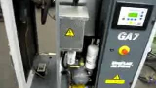 Винтовой компрессор ATLAS COPCO GA 7(Запуск винтового компрессора ATLAS COPCO GA 7., 2010-02-01T09:11:06.000Z)