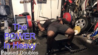 Video The Power In Doing Heavy Paused Doubles For Bench ! download MP3, 3GP, MP4, WEBM, AVI, FLV Oktober 2018