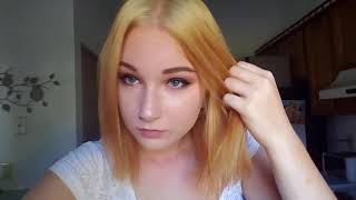 Burgundy Red to Blonde Hair AT HOME