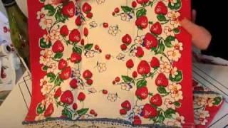 Vintage Kitchen Towel Set - Berries Jubilee - Retro Redheads