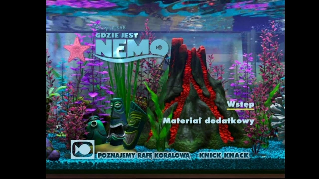 Gdzie jest nemo finding nemo bonus disc 2 dvd menu youtube for Max fish menu