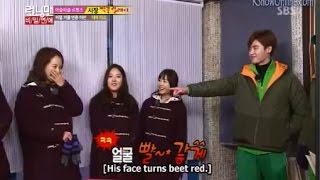Blank Ji Shy As Jong Suk Wanted To Grab Her Hand - RUNNING MAN EP 181