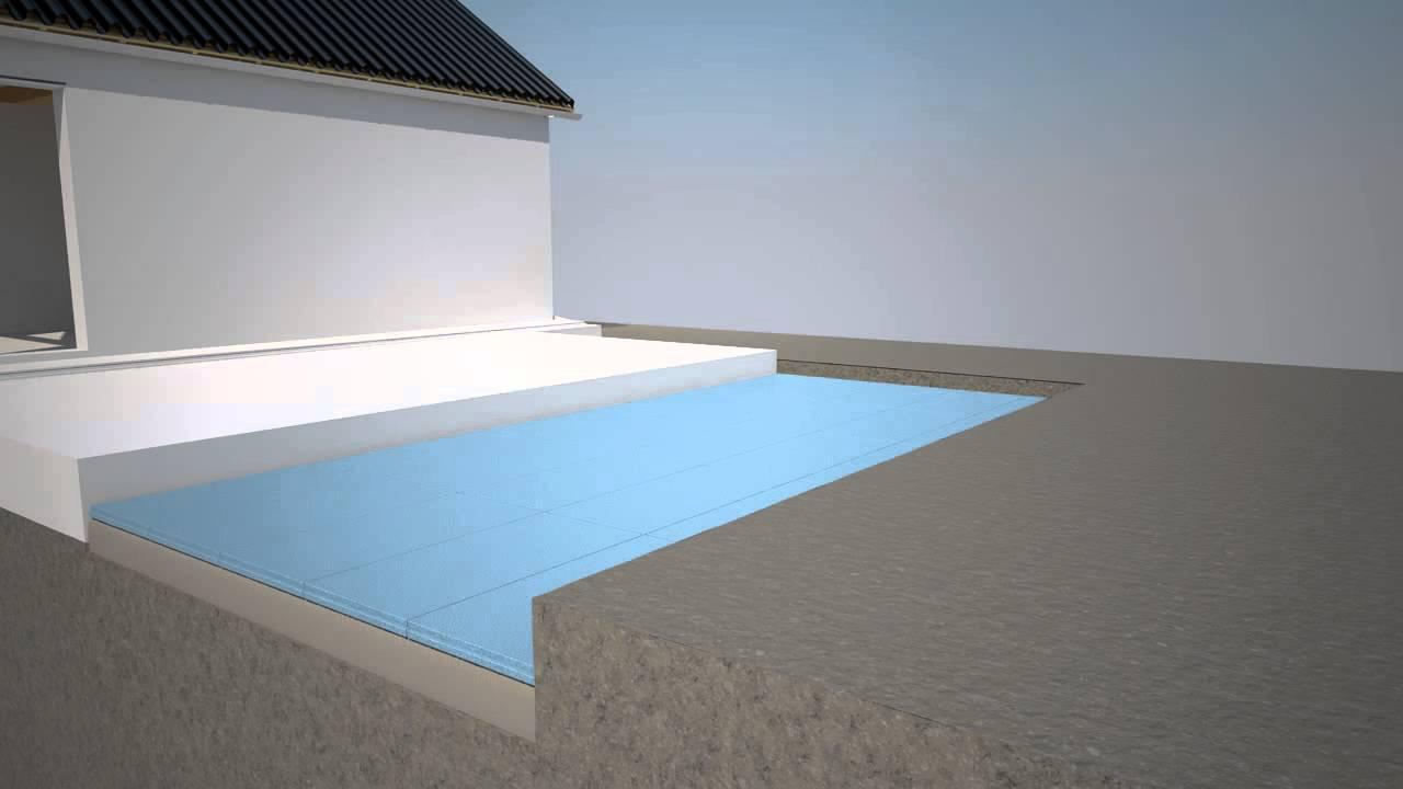 Isolera garageuppfarten med ISOVER - YouTube : isolering frigolit : Inredning