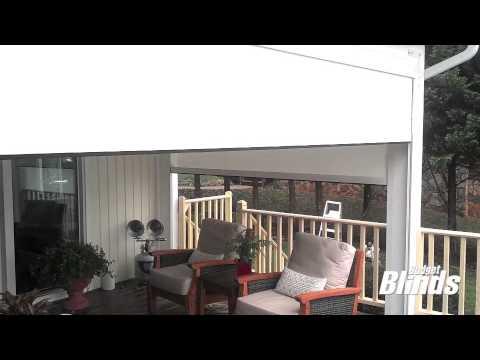 Budget Blinds Exterior Motorized Solar Shades Youtube