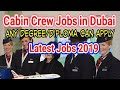Cabin Crew Jobs in Dubai 2019 | Airline Jobs in Dubai | Many Vacancies Open