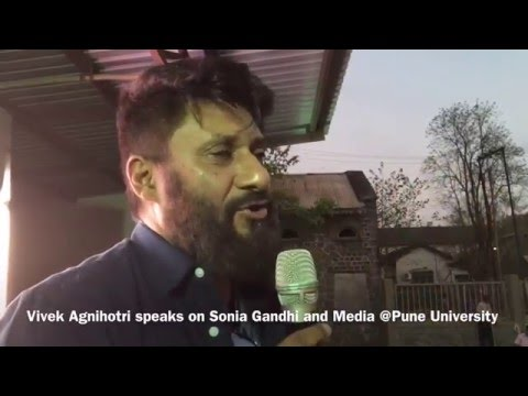 Vivek Agnihotri on Sonia Gandhi & Media