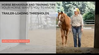 Trailer Loading: Recognizing Thresholds, Building Confidence