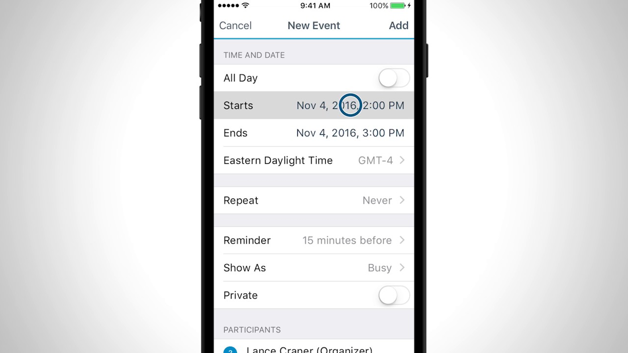 BlackBerry Work Calendar Tutorial (iOS)
