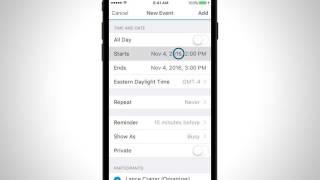 BlackBerry İş Takvimi Öğretici (iOS)