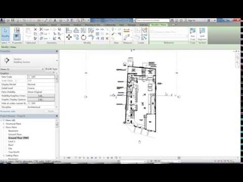 Revit Town Hall Hotel 01 Importing DWG