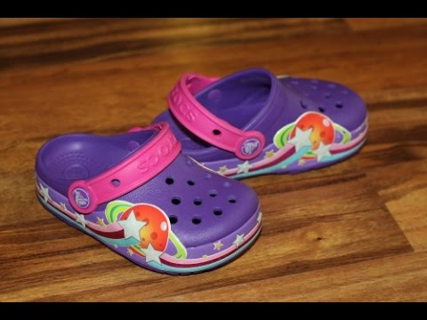 Обзор кроксов с мигалками - Crocs Girls' CrocsLights Galactic Clog - Mini_bear