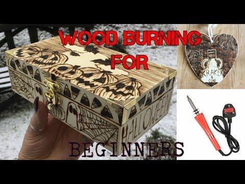 WOOD BURNING PYROGRAPHY TUTORIAL - Spooky Burning DIY Video