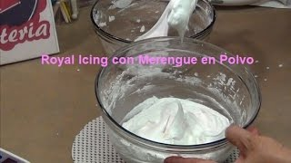 Royal Icing con Merengue