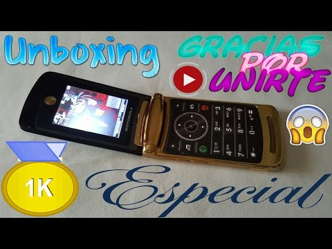 Unboxing Motorola RAZR2 V8 Luxury Gold [Especial 1K YouTube]