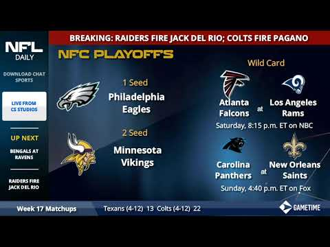 NFL Playoff Picture, Schedule, Matchups, Dates And Times For AFC And NFC In 2018