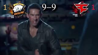 Scott Adkins vs Wade Barrett [ VP vs FaZe ]CSGO Major simulation [BO5]