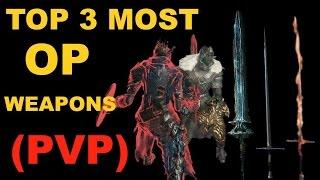 DARK SOULS 3: TOP 3 BEST PVP WEAPONS - DARK SWORD | ESTOC | LONGSWORD (Beginners Guide)