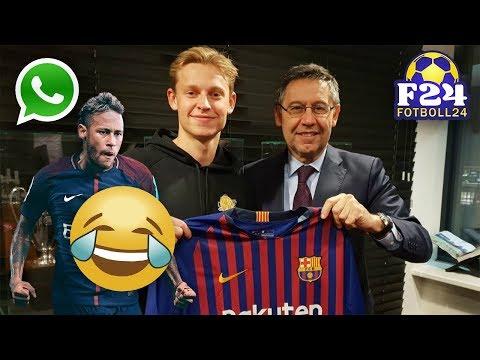 Hur FC Barcelona använde Neymars hemliga meddelanden för att locka Frenkie De Jong | Fotboll24