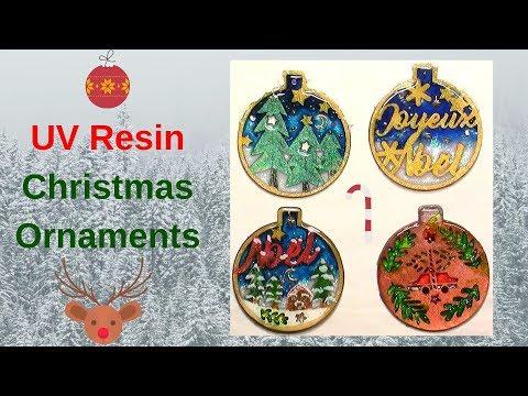 Diy Wood Christmas Ornaments Using Uv Resin