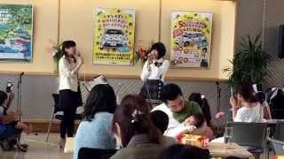 チーム8福島県代表舞木香純ちゃんが福島トヨタ、いわき小名浜店にゲスト...