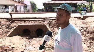 Galeria obstruída provoca enchente e estragos em Ruilândia