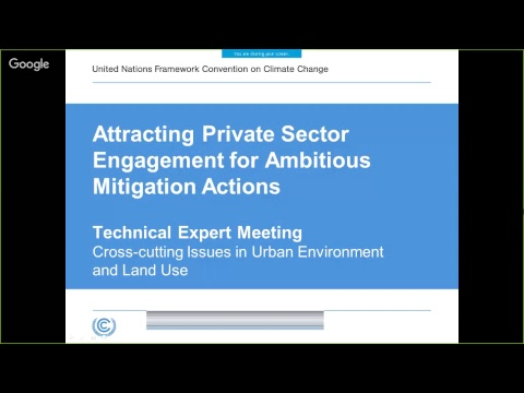 Land use: Attracting Private Sector Engagement for ambitious mitigation actions