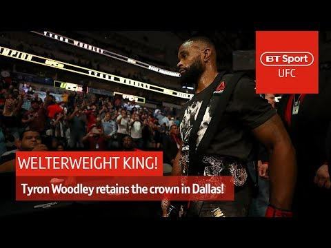 """The king is back! This is the Woodleyweight division!"" Tyron Woodley UFC 228 post-fight interview"