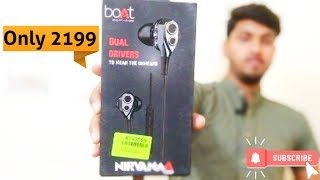 Boat nirvana dual driver earphone | unboxing | review | 2020 gadgets