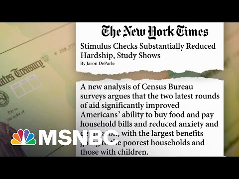 Study Shows Stimulus Checks Helped Reduce Hardship, What's Next?