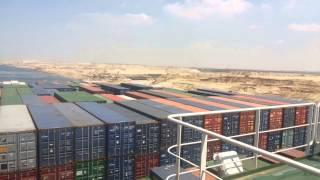 حدث تاريخى بقناة السويس الجديدة : عبور اكبر حاملة حاويات فرنسية  تحمل 180ألف طن ومليون دولار رسوم