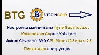 Bitcoin Gold(BTG) - полная инструкция по майнингу и выводу на кошелёк биржи