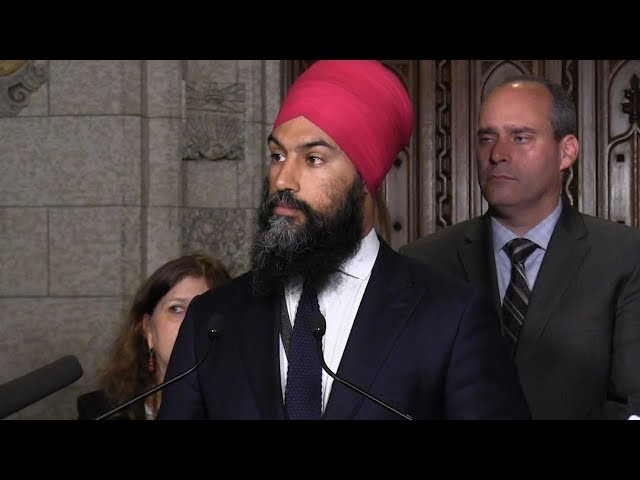 NDP Leader Jagmeet Singh says he expelled Erin Weir from the party's caucus over sexual harassment allegations and what he says is Weir's refusal to take responsibility for his actions. Weir has said the move is retaliatory. (The Canadian Press)