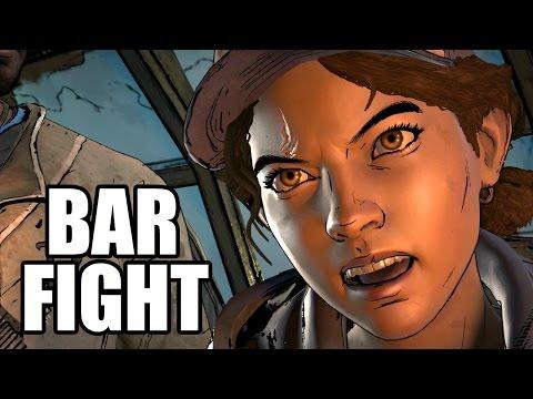 THE WALKING DEAD A New Frontier - Bar Scene / Clementine Kills Eli |