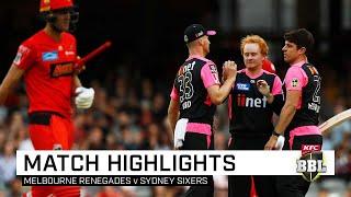Sixers salute to keep Renegades winless | KFC BBL|09