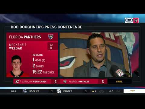 Bob Boughner -- Florida Panthers vs. Carolina Hurricanes 04/02/2018