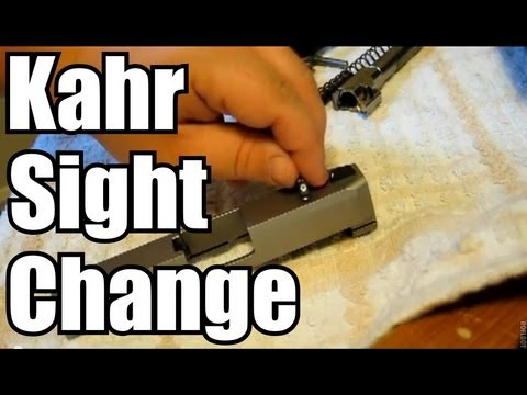 Kahr Trijicon Front Sight Quick Install