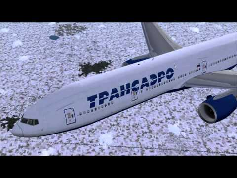 777 - 300 TRANSAERO SALZBURG - MOSCOW DOMODEDOVO