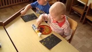 Занятие с малышами - рисование звёзд