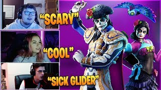 Streamers React To *NEW* (Reactive) Dante And Rosa Skins! - Fortnite Funny Moments